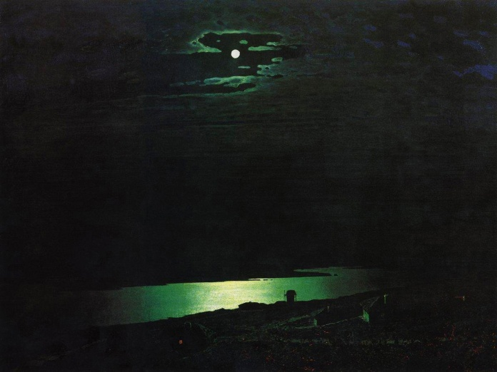 Arkhip Kuindzhi. Moonlight Night on Dneper. 1880. Oil on paper. 105 x 144. The State Russian Museum, St. Petersburg, Russia.