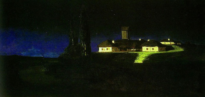 Arkhip Kuindzhi. Ukrainian Night. 1876. Oil on canvas. 79 x 162. The Tretyakov Gallery, Moscow, Russia.