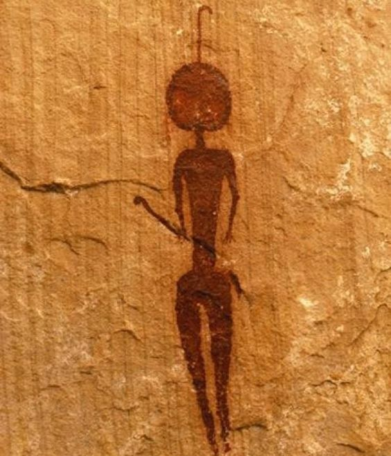 pre-historic cave man painting